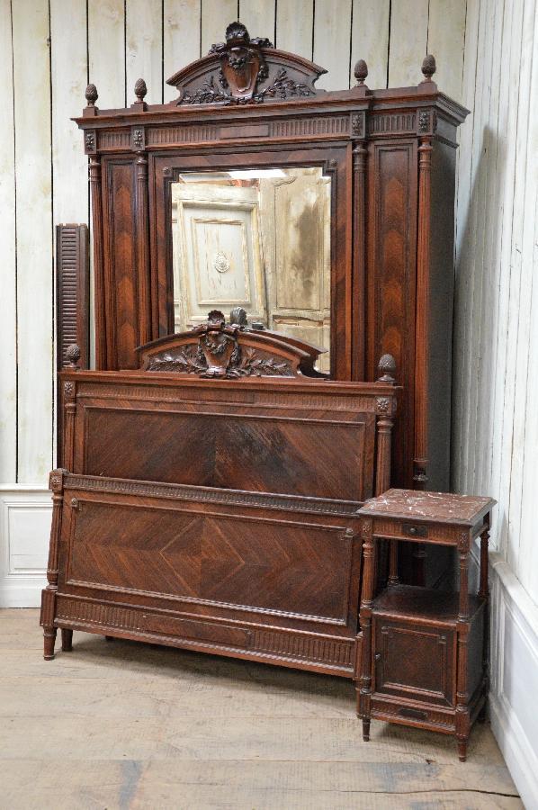 Palisander Bedroom Set Louis Xvi Style FAE482